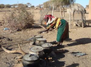 Preparing dinner, Burkina Faso