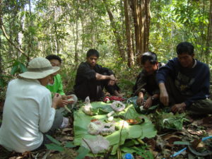 Lunch break in the forest, Laos